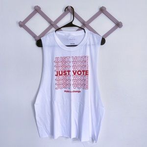 NWOT Just Vote Cut Muscle Tee